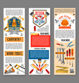 construction tool for home repair banners vector image vector image