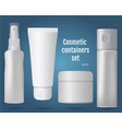 cosmetic containers set vector image vector image
