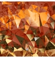 Creative stylized background of triangles vector image vector image