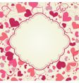 cute hearts frame vector image vector image