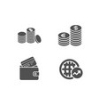 debit card currency and banking money icons vector image vector image