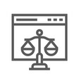 digital law copyright flat line icon vector image