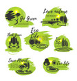 eco green life and ecology protection symbol vector image vector image
