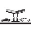 electric vehicles at charging station vector image