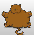 fat cat vector image vector image