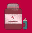 flat shading style icon bank of protein vector image
