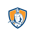 Gas Jockey Attendant Fuel Pump Nozzle Shield vector image vector image