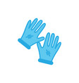 gloves icon design template isolated vector image