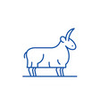 goat line icon concept goat flat symbol vector image vector image