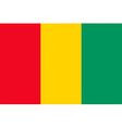 guinean flag vector image vector image