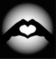 hand making sign Heart vector image vector image