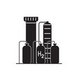 hydrogen plant silhouette icon in flat style vector image vector image