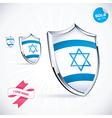 I Love Israel Flag vector image