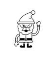 isolated santa cartoon design vector image