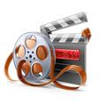 Movie elements vector image vector image