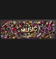 music hand drawn cartoon doodles vector image vector image