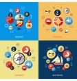 Nautical Colored Composition vector image vector image