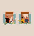 neighbours in windows vector image vector image