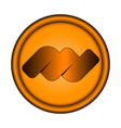 orange round emblem with three-dimensional edging vector image vector image