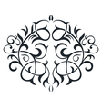 Ornament in form of the circle vector image