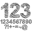 ornamented numbers vector image vector image