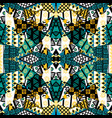 patchwork mosaic with african ethnic motifs vector image