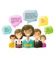people folk logo design template opinion vector image vector image