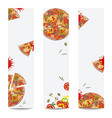 pizza set banners vector image