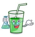 professor green smoothie character cartoon vector image vector image