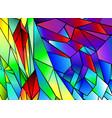 rainbow polygonal background vector image vector image