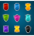 Set of shield icons symbols and signs vector image