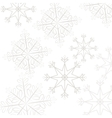 snoflake pattern background vector image
