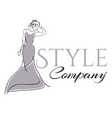 stylish woman logo vector image vector image