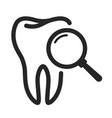 teeth check black icon medical care and dentistry vector image