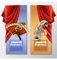 Theatre And Stage Banners Set vector image vector image