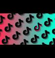tiktok social network pattern background odessa vector image vector image