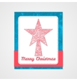 Toys on christmas tree - star Christmas vector image