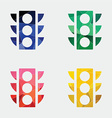 traffic light icon Abstract Triangle vector image