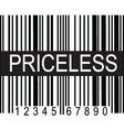 upc code priceless vector image