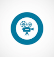 video bold blue border circle icon vector image vector image