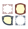 Vintage frames colored vector image vector image