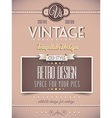 Vintage retro page or cover template vector image vector image