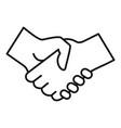 volunteer handshake icon outline style vector image