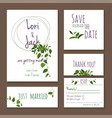 wedding invitation card set thank you save vector image vector image