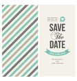 wedding invitation card with background stripes vector image vector image