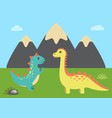 wild nature and dinosaurs vector image vector image