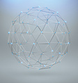 Wireframe polygonal element 3D sphere with vector image vector image