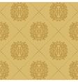Baroque vintage seamless background vector image