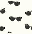 cat eye retro glasses seamless pattern vector image