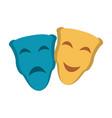 theater masks symbol vector image